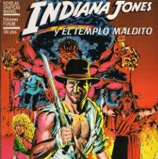 Cómics: NOVELAS GRAFICAS RUSTICA INDIANA JONES Y EL TEMPLO MALDITO - FORUM - BUEN ESTADO. Lote 287198518