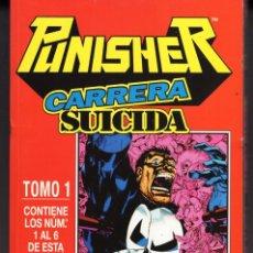 Cómics: PUNISHER CARRERA SUICIDA COMPLETA RETAPADO CON LOS NUMEROS 1 AL 6 - FORUM - BUEN ESTADO. Lote 287310053