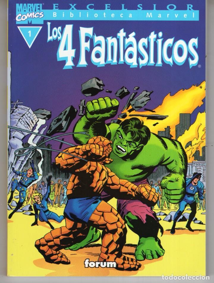 BIBLIOTECA MARVEL 4 FANTASTICOS Nº 1 - FORUM - MUY BUEN ESTADO - OFM15 (Tebeos y Comics - Forum - 4 Fantásticos)