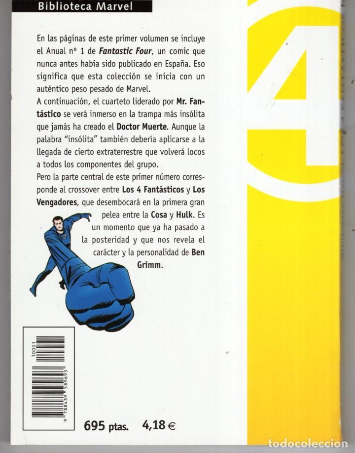 Cómics: BIBLIOTECA MARVEL 4 FANTASTICOS Nº 1 - FORUM - MUY BUEN ESTADO - OFM15 - Foto 2 - 287400868