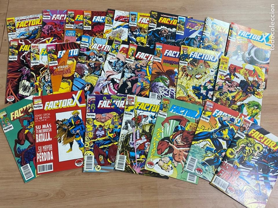 """LOTE DE 26 CÓMICS """"FACTOR X"""" N 63-88 MARVEL/ CÓMICS FORUM AÑOS 80 (Tebeos y Comics - Forum - Factor X)"""