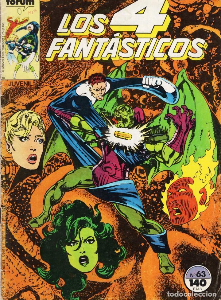 LOS 4 FANTASTICOS VOL. 1 Nº 63 - FORUM - VER DESCRIPCION - SUB03Q (Tebeos y Comics - Forum - 4 Fantásticos)