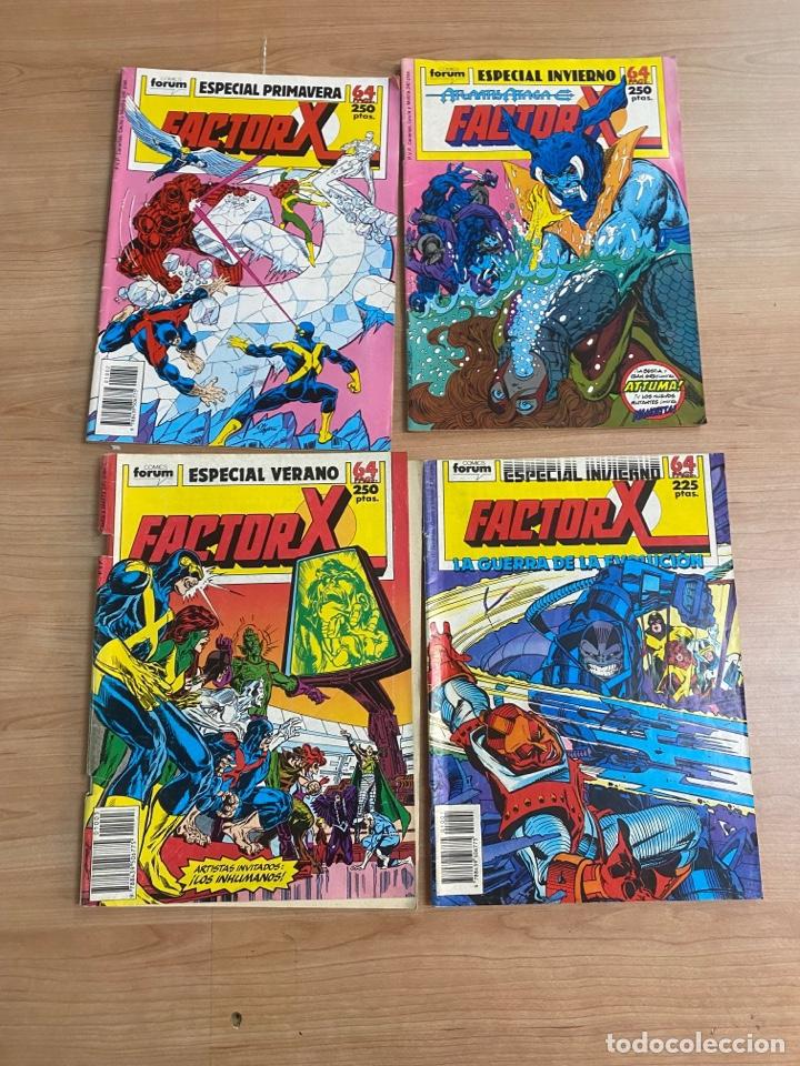 """LOTE DE 4 CÓMICS """"FACTOR X"""" EDICIONES ESPECIALES MARVEL/ COMICS FORUM AÑOS 80 (Tebeos y Comics - Forum - Factor X)"""