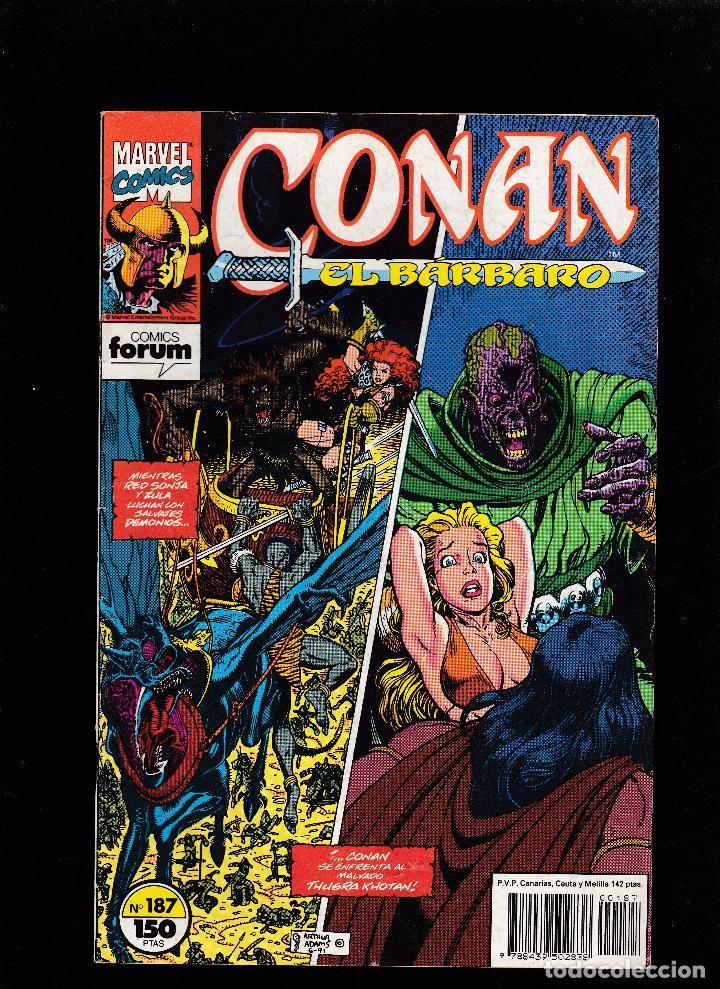 CONAN EL BÁRBARO - VOL 1 - Nº 184 - CAOS EN KHORAJA - FORUM - (Tebeos y Comics - Forum - Conan)
