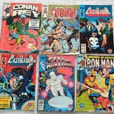 Cómics: LOTE 6 COMICS FORUM, CONAN REY 3, CONAN EL BÁRBARO 68, EL CASTIGADOR 14 Y 15, ESTELA 6, IRON MAN 37. Lote 288202688