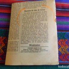 Cómics: ARTÍCULO MARATÓN CINE DE TERROR POR LA PRESENTACIÓN DE LA BIBLIOTECA DE TERROR CINE IDEAL 1983 FORUM. Lote 288323648