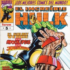 Cómics: HULK VOL. 3 Nº 5 - FORUM - IMPECABLE - OFM15. Lote 288466213