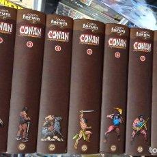 Cómics: CONAN EL BARBARO. COLECCION COMPLETA: 275 NUMS + 12 ANUALES EN 10 TOMOS. EDIC REMASTERIZADA. PLANETA. Lote 288499278