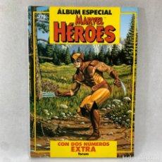 Cómics: ÁLBUM ESPECIAL MARVEL HÉROES - 2 NÚMEROS EXTRA - FORUM - 1987. Lote 288623253