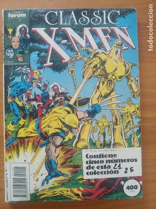 RETAPADO CLASSIC X-MEN - NUMEROS 21, 22, 24 Y 25 (FALTA 23) - MARVEL - FORUM (AI) (Tebeos y Comics - Forum - Retapados)