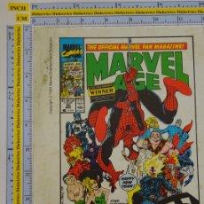Cómics: TARJETÓN PUBLICITARIO DE COMICS TEBEOS. MARVEL AGE MAGAZINE. 1990 MARVEL. COMICS FORUM. Lote 289000838