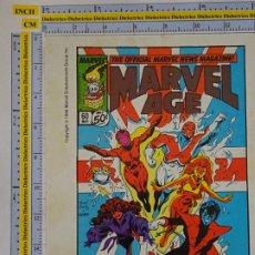 Cómics: TARJETÓN PUBLICITARIO DE COMICS TEBEOS. MARVEL AGE MAGAZINE. 1990 MARVEL. COMICS FORUM. Lote 289000863