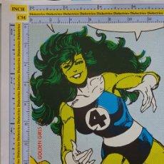 Cómics: TARJETÓN PUBLICITARIO DE COMICS TEBEOS. HULKA GOLDEN GIRLS. 1990 MARVEL. COMICS FORUM. Lote 289000988