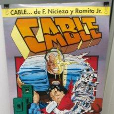 Cómics: POSTER MARVEL CABLE JOHN ROMITA JR. COMICS FORUM 64 CM. Lote 289201673