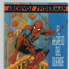 Cómics: ARCHIVOS SPIDERMAN. EL REGRESO DEL DUENDE. TOM DE FALCO - RON FRENZ.. Lote 289234548