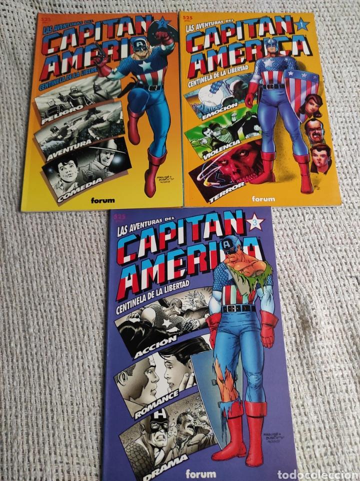 CAPITÁN AMÉRICA, CENTINELA DE LA LIBERTAD , LOTE 3 EJEMPLARES Nº 1, 2, 3, -EDITA : FORUM (Tebeos y Comics - Forum - Prestiges y Tomos)
