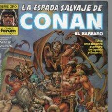 Cómics: LA ESPADA SALVAJE DE CONAN - Nº 61. Lote 289510988
