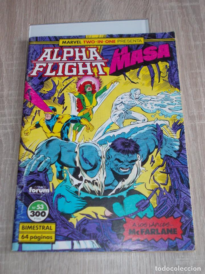 ALPHA FLIGHT & LA MASA VOL-1 Nº 53. 64 PAGÍNAS. FORUM (Tebeos y Comics - Forum - Alpha Flight)