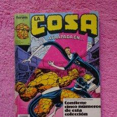 Cómics: LA COSA 6-7-8-9-10 EDICIONES FORUM 1989 TOMO RETAPADO CON 5 NÚMEROS. Lote 289849473