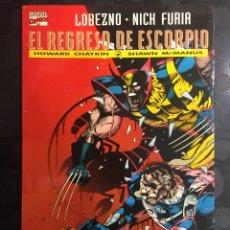 Cómics: LOBEZNO & NICK FURIA : EL REGRESO DE ESCORPIO COLECCIÓN PRESTIGIO VOL.2 N.12 ( 1995 ). Lote 289879198