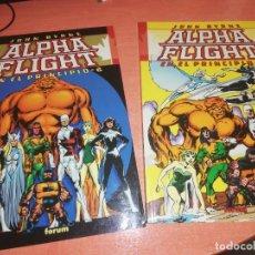 Cómics: ALPHA FLIGHT - JOHN BYRNE - EN EL PRINCIPIO Nº 1 Y 2 COMPLETA 2 TOMOS (FORUM) NUEVOS. Lote 290763558
