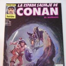 Fumetti: LA ESPADA SALVAJE DE CONAN NUM 161 - PRIMERA EDICION - BUEN ESTADO. Lote 291222938