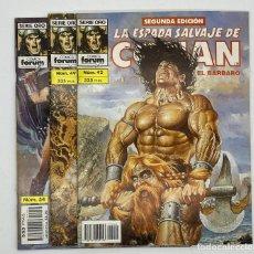 Cómics: LA ESPADA SALVAJE DE CONAN EL BARBARO SERIE ORO COMICS FORUM 2º EDICIÓN - N.º 42-49-54. Lote 291515168