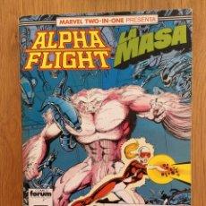 Cómics: ALPHA FLIGHT / LA MASA TOMO NÚMEROS 48-49-50 CÓMICS FORUM MARVEL TWO-IN-ONE. Lote 291889118