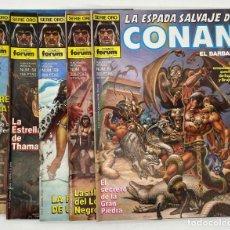 Cómics: LA ESPADA SALVAJE DE CONAN EL BARBARO SERIE ORO COMICS FORUM N.º 57-58-59-60-61. Lote 292074463