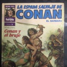 Cómics: LA ESPADA SALVAJE DE CONAN EL BÁRBARO N.2 SÚPER CONAN Y EL BRUJO 2@ EDICIÓN ( 1989 ). Lote 293512188