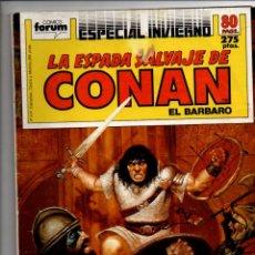 Cómics: LA ESPADA SALVAJE DE CONAN EL BARBARO. ALBUM ESPECIAL INVIERNO. FORUM-PLANETA. Lote 294376483