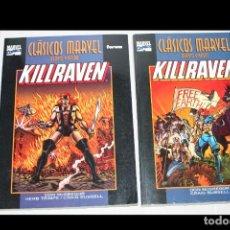 Cómics: KILLRAVEN ( MACGREGOR & RUSSEL).- CLÁSICOS MARVEL EN BLANCO Y NEGRO: Nº 11 Y 12 (COMPLETA). Lote 294430198