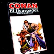 Cómics: EXCELENTE ESTADO NOVELA CONAN 8 EL USURPADOR COMICS FORUM. Lote 295630478