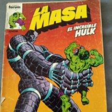 Cómics: LA MASA, EL INCREIBLEHULK. Lote 295914953