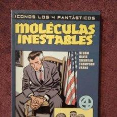 Cómics: ICONOS LOS 4 FANTÁSTICOS: MOLÉCULAS INESTABLES, JAMES STURM Y GUY DAVIS. FORUM 2003. Lote 295918503