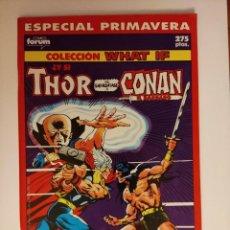 Cómics: WHAT IF ... ESPECIAL PRIMAVERA THOR VS CONAN CONTIENE POSTER 124 DE JIM STERANKO FORUM. Lote 296903453
