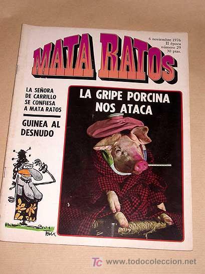 MATA RATOS Nº 29. II ÉPOCA. GARBO NOVIEMBRE 1976. GOTLIB, KIM, J. L. MARTÍN, VIVES, MANEL, ROMEU TOM (Tebeos y Comics - Garbo)