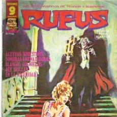 Cómics: RUFUS - QUE LE LLEVO A LOS MURCIELAGOS *** N º47 1973. Lote 11550538