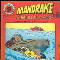 Cómics: SUPER COMICS GARBO. MANDRAKE. MERLIN EL MAGO. Nº 14. ALINA. PESADILLA. TIBURON.. Lote 18063959