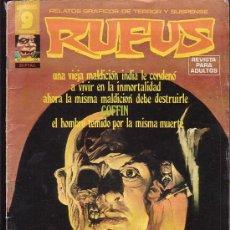 Cómics: RUFUS - Nº 32 - RELATOS GRAFICOS DE TERROR Y SUSPENSE. Lote 21045735