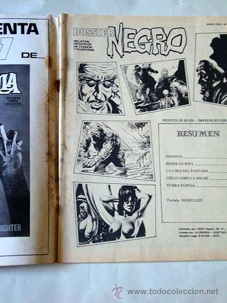 Cómics: DOSSIER NEGRO Nº 104. SEGRELLES, RICHARD CORBEN, RAMÓN TORRENTS, FIGUERAS, LA COSA DEL PANTANO. - Foto 2 - 31745341