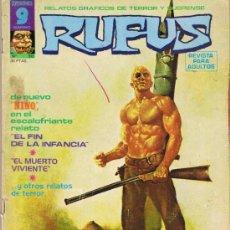 Cómics: RUFUS - Nº 30 - RELATOS GRÁFICOS DE TERROR Y SUSPENSE. Lote 34401623