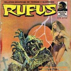 Cómics: RUFUS - Nº 18 - RELATOS GRÁFICOS DE TERROR Y SUSPENSE. Lote 34401649
