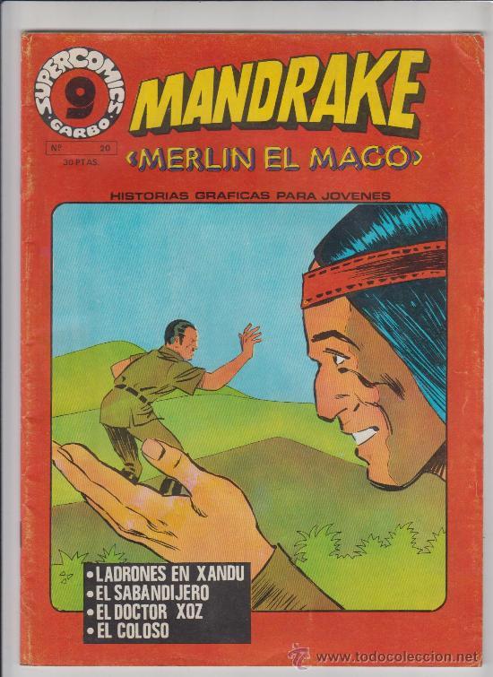 MANDRAKE MERLIN EL MAGO Nº20 GARBO 1973 (Tebeos y Comics - Garbo)