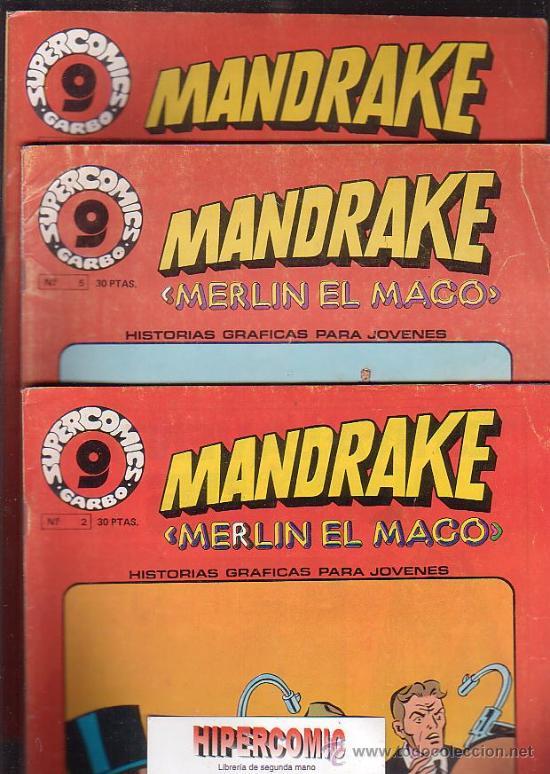 MANDRAKE MERLIN EL MAGO, LOTE DE 7 EJEMPLARES -EDITA : GARBO AÑOS 80 (Tebeos y Comics - Garbo)