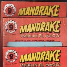 Cómics: MANDRAKE MERLIN EL MAGO, LOTE DE 7 EJEMPLARES -EDITA : GARBO AÑOS 80. Lote 37256158