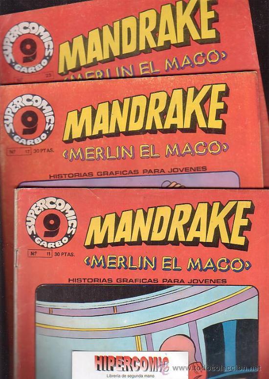 Cómics: MANDRAKE MERLIN EL MAGO, LOTE DE 7 EJEMPLARES -edita : GARBO AÑOS 80 - Foto 2 - 37256158