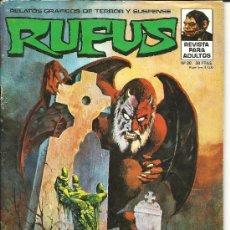 Cómics: RUFUS Nº 20 RELATOS GRÁFICOS DE TERROR Y SUSPENSE SUPERCÓMICS EDITORIAL GARBO. Lote 37360685