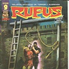 Cómics: RUFUS Nº 41 RELATOS GRÁFICOS DE TERROR Y SUSPENSE SUPERCÓMICS EDITORIAL GARBO. Lote 37360698