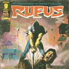Cómics: RUFUS Nº 27 RELATOS GRÁFICOS DE TERROR Y SUSPENSE SUPERCÓMICS EDITORIAL GARBO. Lote 37360710